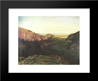 The Last Valley: Modern Black Framed Art Print by John LaFarge