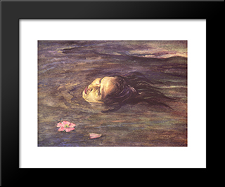 The Strange Thing Little Kiosai Saw In The River: Modern Black Framed Art Print by John LaFarge