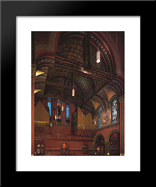 Trinity Church, Boston: Modern Black Framed Art Print by John LaFarge