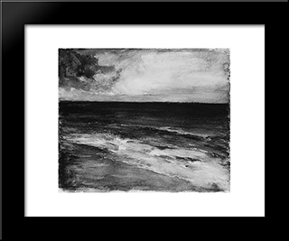 Marine: Modern Black Framed Art Print by John LaFarge