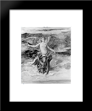 The Wheel Of Fortune: Modern Black Framed Art Print by John LaFarge
