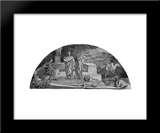 The Relation Of The Individual To The State: Socrates And His Friends Discuss 'The Republic,' As In Plato'S Account: Modern Black Framed Art Print by John LaFarge