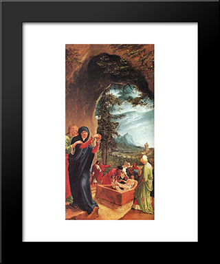 The Entombment: Modern Black Framed Art Print by Denys van Alsloot
