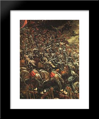 The Battle Of Alexander (Detail): Modern Black Framed Art Print by Denys van Alsloot