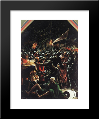 The Arrest Of Christ: Modern Black Framed Art Print by Denys van Alsloot