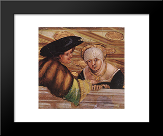 Lovers: Modern Black Framed Art Print by Denys van Alsloot