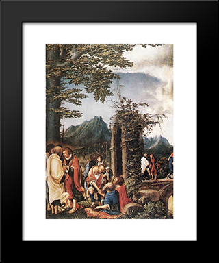 Communion Of The Apostles: Modern Black Framed Art Print by Denys van Alsloot