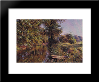 Calm Waters: Modern Black Framed Art Print by Peder Mork Monsted