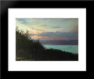 Munkebjerg: Modern Black Framed Art Print by Peder Mork Monsted