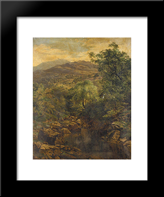A Quiet Pool In Glenfalloch: Modern Black Framed Art Print by Benjamin Williams Leader
