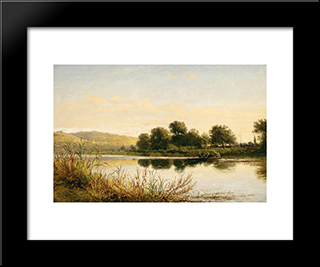 Streatley'On'Thames: Modern Black Framed Art Print by Benjamin Williams Leader