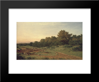 The Sandpit, Burrow'S Cross: Modern Black Framed Art Print by Benjamin Williams Leader