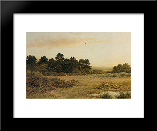 A Surrey Common Near Gornshall: Modern Black Framed Art Print by Benjamin Williams Leader