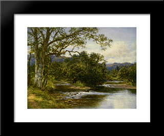 North Wales: Modern Black Framed Art Print by Benjamin Williams Leader