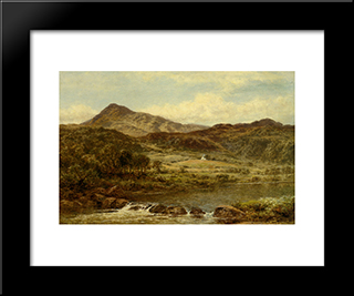From Below Capel Curig: Modern Black Framed Art Print by Benjamin Williams Leader
