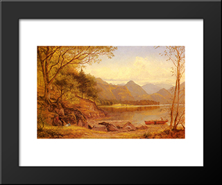 Derwentwater: Modern Black Framed Art Print by Benjamin Williams Leader
