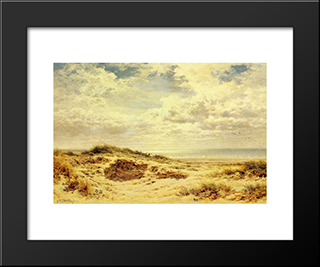 Morning On The Sussex Coast: Modern Black Framed Art Print by Benjamin Williams Leader