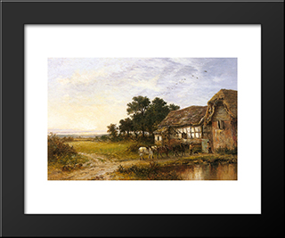 Returning Home: Modern Black Framed Art Print by Benjamin Williams Leader