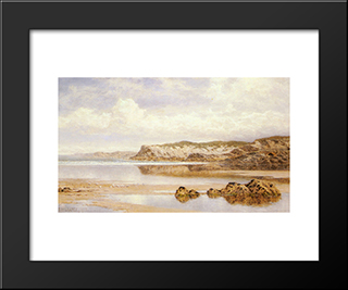 The Incoming Tide, Porth Newquay: Modern Black Framed Art Print by Benjamin Williams Leader