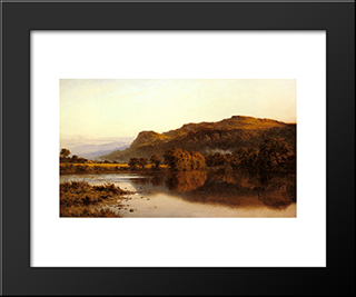 Where Peaceful Waters Glide: Modern Black Framed Art Print by Benjamin Williams Leader