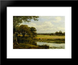 Surrey Cornfields: Modern Black Framed Art Print by Benjamin Williams Leader