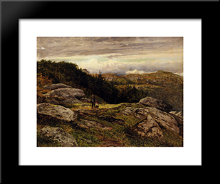 A Welsh Hillside Path: Modern Black Framed Art Print by Benjamin Williams Leader