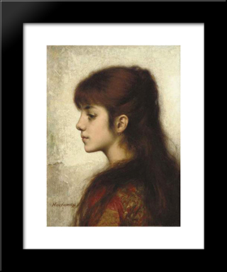Contemplation: Modern Black Framed Art Print by Alexei Alexeivich Harlamoff