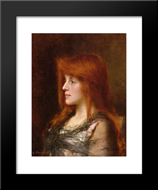 Portrait Of A Young Beauty: Modern Black Framed Art Print by Alexei Alexeivich Harlamoff