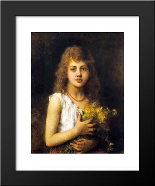Spring Flowers: Modern Black Framed Art Print by Alexei Alexeivich Harlamoff