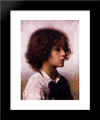 Faraway Thoughts: Modern Black Framed Art Print by Alexei Alexeivich Harlamoff