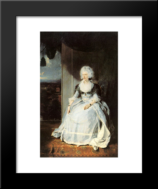 Queen Charlotte: Modern Black Framed Art Print by Sir Thomas Lawrence