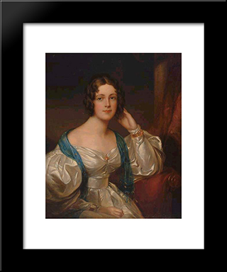 Lady Constance Carruthers: Modern Black Framed Art Print by Sir Thomas Lawrence