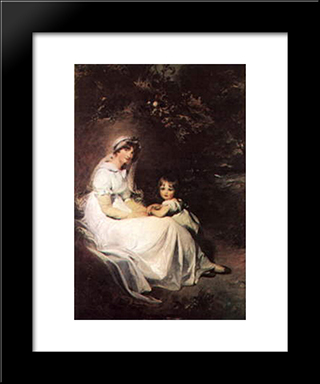 Lady Templeton And Her Son: Modern Black Framed Art Print by Sir Thomas Lawrence