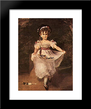 Miss Murray: Modern Black Framed Art Print by Sir Thomas Lawrence