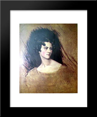 Portrait Of A Princess: Modern Black Framed Art Print by Sir Thomas Lawrence