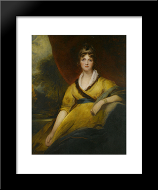 Portrait Of Mary Countess Of Inchiquin: Modern Black Framed Art Print by Sir Thomas Lawrence