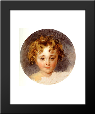 Portrait Of The Hon, George Fane (1819 ' 1848), Later Lord Burghersh, When A Boy: Modern Black Framed Art Print by Sir Thomas Lawrence