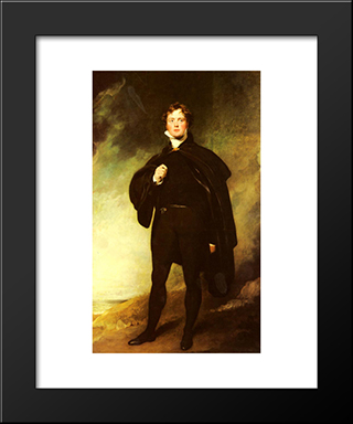 Portrait Of George Nugent Grenville, Lord Nugent: Modern Black Framed Art Print by Sir Thomas Lawrence