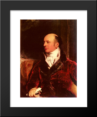 Portrait Of James Perry (1756 ' 1821): Modern Black Framed Art Print by Sir Thomas Lawrence
