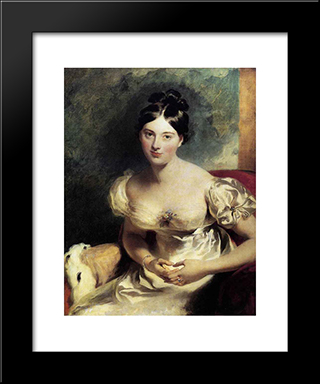Margaret, Countess Of Blessington: Modern Black Framed Art Print by Sir Thomas Lawrence