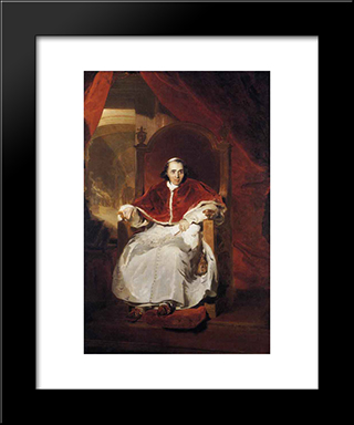 Pope Pius Vii: Modern Black Framed Art Print by Sir Thomas Lawrence