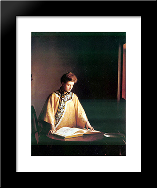 Yellow Jacket: Modern Black Framed Art Print by William McGregor Paxton