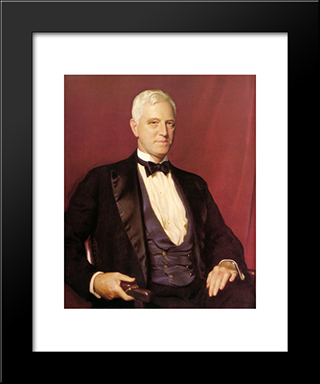 Portrait Of Mr. Charles Sinkler: Modern Black Framed Art Print by William McGregor Paxton
