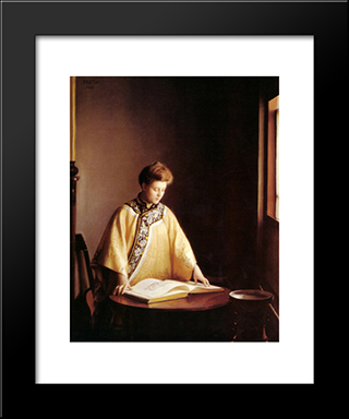 The Yellow Jacket: Modern Black Framed Art Print by William McGregor Paxton