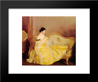 The Crystal: Modern Black Framed Art Print by William McGregor Paxton
