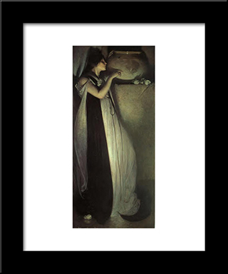 Isabella And The Pot Of Basil: Modern Black Framed Art Print by John White Alexander