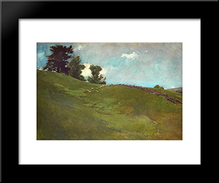 Landscape, Cornish, N.H.: Modern Black Framed Art Print by John White Alexander