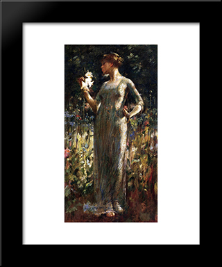A King'S Daughter: Modern Black Framed Art Print by John White Alexander