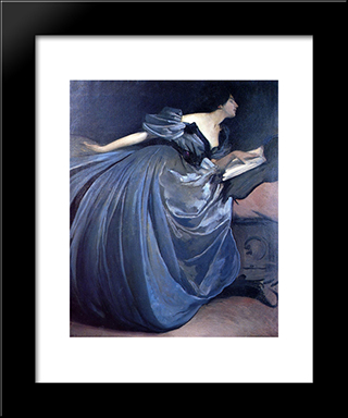 Althea: Modern Black Framed Art Print by John White Alexander