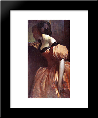 Fancy Dress: Modern Black Framed Art Print by John White Alexander